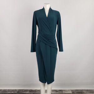 Joseph Ribkoff Green Wrap Dress Size 10